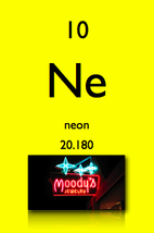 Name: Neon Symbol: Ne Atomic Number: 10. Atomic Mass: 20.1797 Amu. Number  Of Protons/Electrons: 10. Number Of Neutrons: 10. Date Of Discovery: 1898